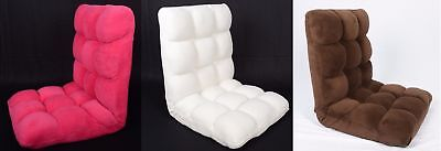 Folding Floor Gaming Chair Adjustable Lounger Sofa Lazy Seat Faux Suede-New Item