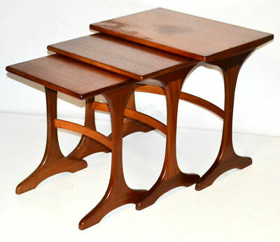 Vintage G Plan Teak Nest of 3 Coffee Wine Tables 1960's - FREE Shipping [PL3292]