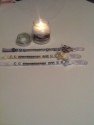 Special Occasion Handmade Dummy Clips For Christening Day