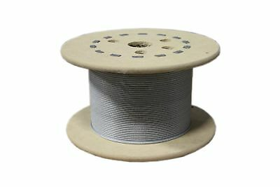 "Loos Stainless Steel 302/304 Wire Rope Vinyl Coated 7x7 Strand Core 3/64"" Bar..."