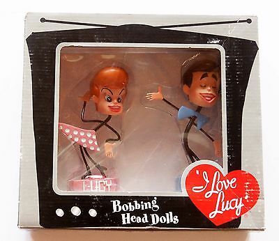 I Love Lucy Bobbing Head Dolls, Limited Edition - BobbleHead, Ricky & Lucy - New