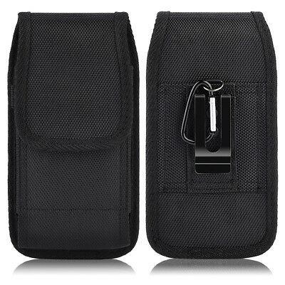 Luxmo Vertical Leather Carrying Pouch Case Holster with Belt Clip For Cell Phone
