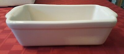 Henn Pottery Bread Loaf Baker Pan Cream Color USA