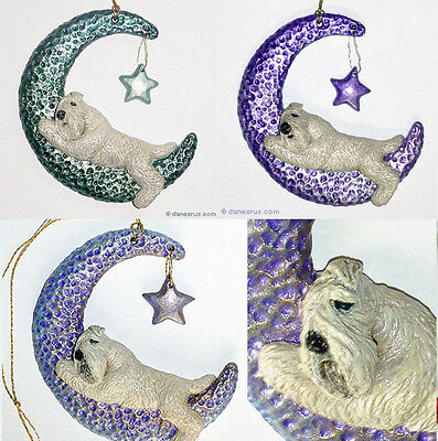 Wheaten Terrier Twinkle Moon Star Ornament CUSTOM for Christmas or Everyday