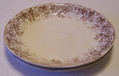 Alfread Meakin Lynn-Brown Saucers - set of 2