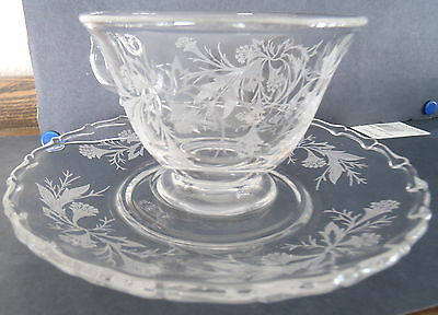 Fostoria Heather Cup and Saucer Set