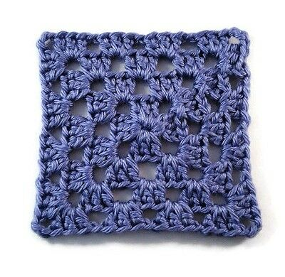 Crochet Purple Granny Squares 20 Pieces 4""