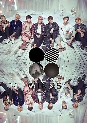 BTS Mirrored Wings Poster - A3 Size