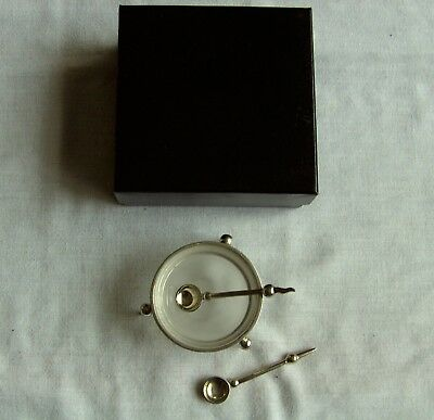 White Metal Mustard Pot & Glass Liner and 2 Spoons  Boxed