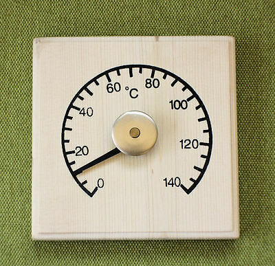 Traditional stylle solid Wood Sauna Thermometer