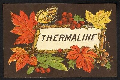 THERMALINE Medical Cure Calendar 1880 and Trade Card Dundas Dick & Co