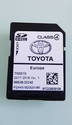 Carte SD GPS Europe TNS510 Toyota 2017-2018 Ver.1