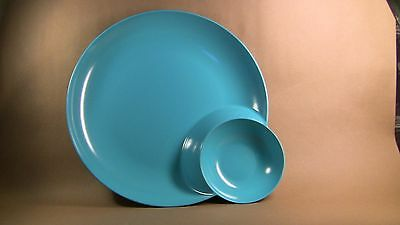 Large Melamine One-Piece Teal/turquoise  Snacking Bowl