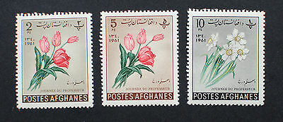 AFGHANISTAN - Flowers, 1961 Mint Stamps