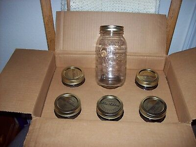 LONGABERGER Quart Blue Ribbon Canning Jars with Lids  NIB