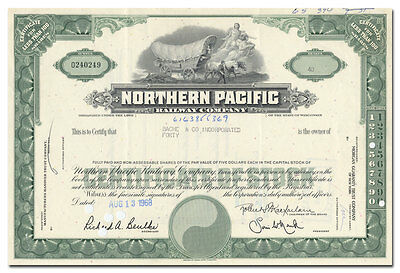 Northern Pacific Railway Company Stock Certificate
