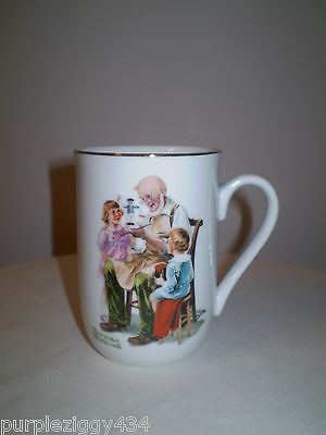 Norman Rockwell Coffee/Tea Mug~The Toymaker~Norman Rockwell Museum 1982
