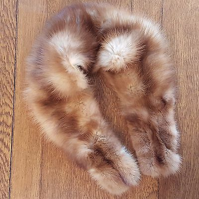 Vintage Blond Blonde Mink Collar Lined with Lining