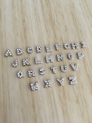 Living Memory Floating Locket Silver A-Z Letter Floating Charm for a Locket