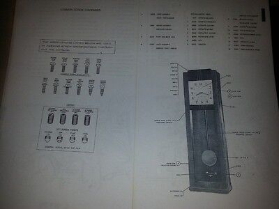 1958 IBM Time Recorder Master Clock Parts Listing (BOM) - Digital File + Reprint