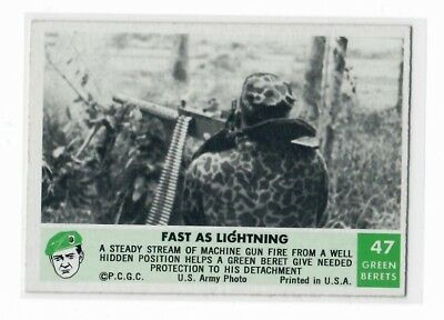 1966 Philadelphia Chewing Gum Corp. Green Berets Card #47 Fast as Lightning
