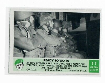 1966 Philadelphia Chewing Gum Corporation Green Berets Card #11 Ready To Go In