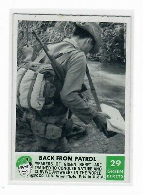 1966 Philadelphia Chewing Gum Corporation Green Berets Card #29 Back From Patrol