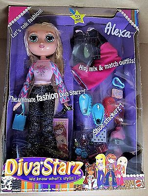 "DIVA STARZ 11"" ALEXA Talking Light Up Lips Fashion DOLL 2002 Mattel NEW ~ TESTED"