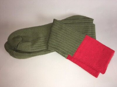 Scout Socks- Boy - Knee High - Green with Red Band - Classic Look
