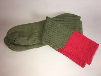 Scout Socks - Knee High - Green with Red Band - Classic Look