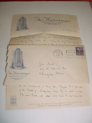 Vintage Business Letterhead & Envelope #87- The Harrisburger Harrisburg PA. 1949