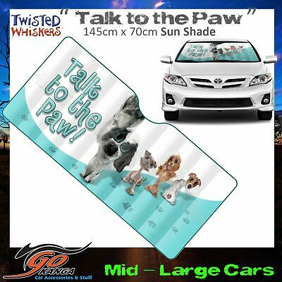 Twisted Whiskers Puppy Windscreen Sun Shade Med-Large Cars Talk To The Paw