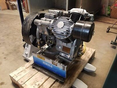 Mahle Industrial Air Compressor  MGK 751 H/P  Compact  3-phase  5hp   Works Good