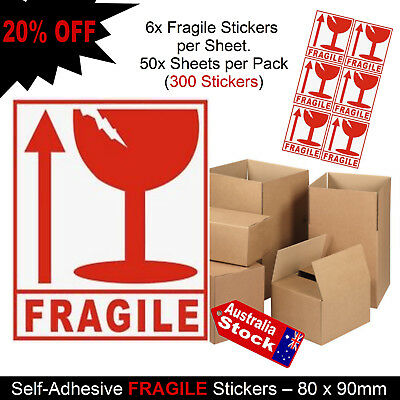 Fragile / This Way Up - Packing Packaging Stickers / Labels  Water-Sheild Coat