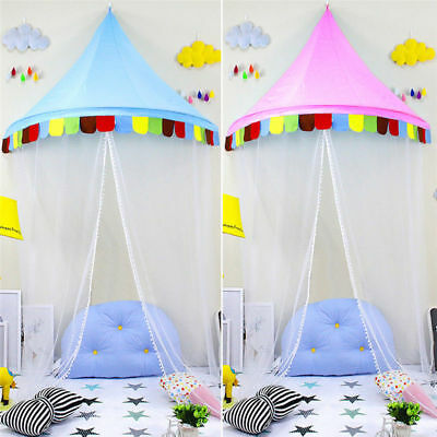 Baby Kids Hanging Bed Canopy Round Dome Princess Play Tent Mosquito Net Girl Boy
