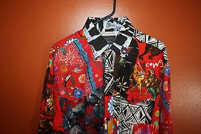 Panhandle Slim Busy Print Western Rodeo Square Dancing Shirt Men's 15 15-1/2 Med