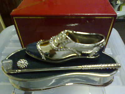 Juju Palais Royal ~ Collectable Mens  Golf Shoe ~ Swarovski Crystal Elements