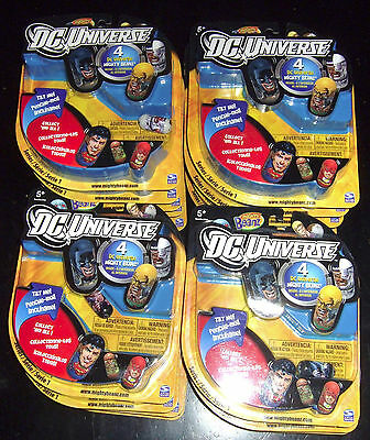 3 Packs of DC Universe Mighty Beanz MIP Beans 2011 Cyborg Boomerang Black Canary