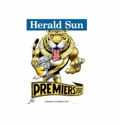 2017 Richmond Tigers AFL Premiership Poster Mark Knight  poster herald sun