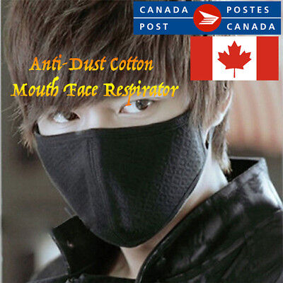 Black Health Cycling Anti-Dust Cotton Mouth Face Respirator Unisex Mask NEW