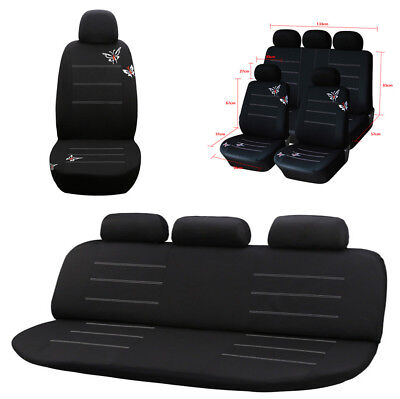 Stylish Butterfly Embroidery Auto Car Seat Cover Full Set Interior Accessories