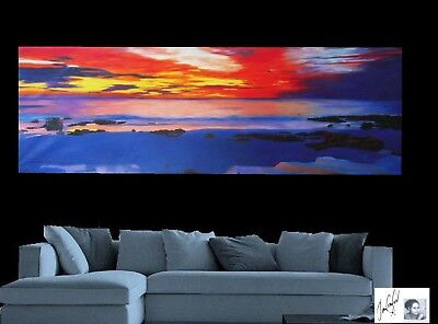 australia sunset seascape abstract landscape ocean large painting by jane
