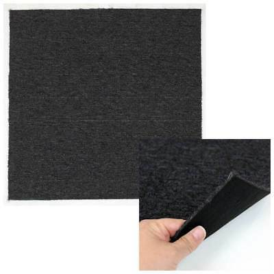 Floor Covering Carpet Tiles Anthracite 5 SM 20 Pc 50x50 cm Home Office Flooring