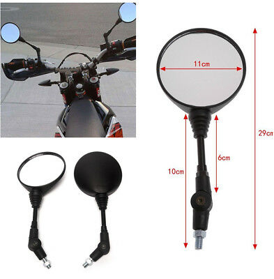 1 Pair High Quality Folding Foldable Rearview Side Mirror for Motorcycles Bike