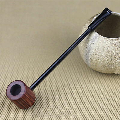 Red Ebony Wooden Enchase Smoking Pipe Tobacco Cigarettes Cigar Pipes For Gift