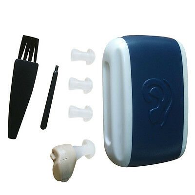New Small In-Ear Voice Sound Amplifier Adjustable Tone Mini Hearing Ear Aid UK