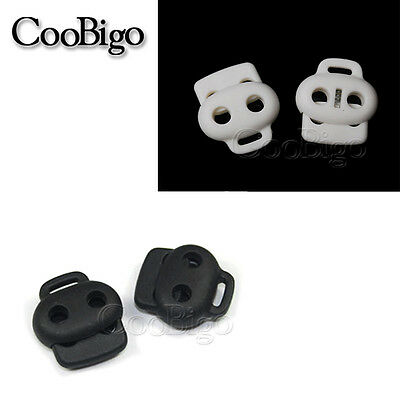 5mm hole Plastic Cord Lock Toggle Clip Stopper for Sporting Apparel Shoelace