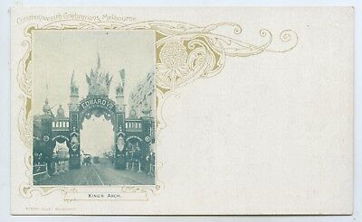 1901 PT NPU UB POSTCARD SOUVENIR OF FEDERATION KING'S ARCH R JOLLEY PUBL. S39a