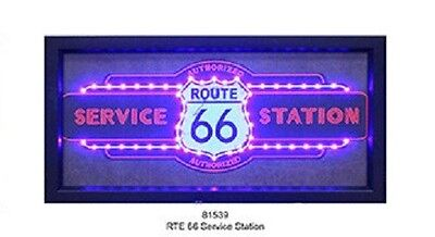 ROUTE 66 Authorized Service Station Light Up LED Sign