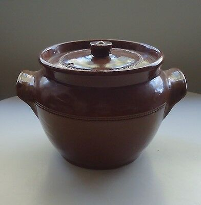 Vintage Pearsons of Chesterfield Pottery England Crock Pot Casserole & Lid